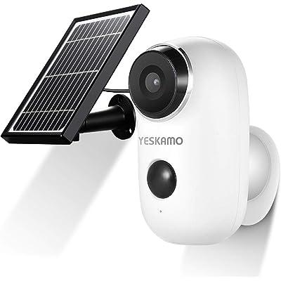 【15日まで】YESKAMO ソーラーパネル付・屋外対応 Wi-Fiネットワークカメラ 送料込8,900円【激安★超特価商店街限定】