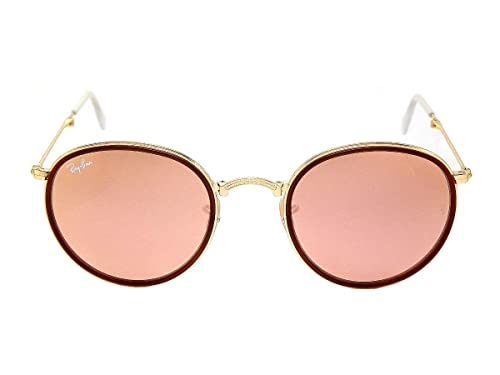 Amazon.com: New Ray Ban Iconos Rb3517 001/Z2 Oro/Marrón ...
