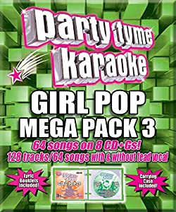 Party Tyme Karaoke - Girl Pop Mega Pack 3 [8 CD][64+64-Song Party Pack]