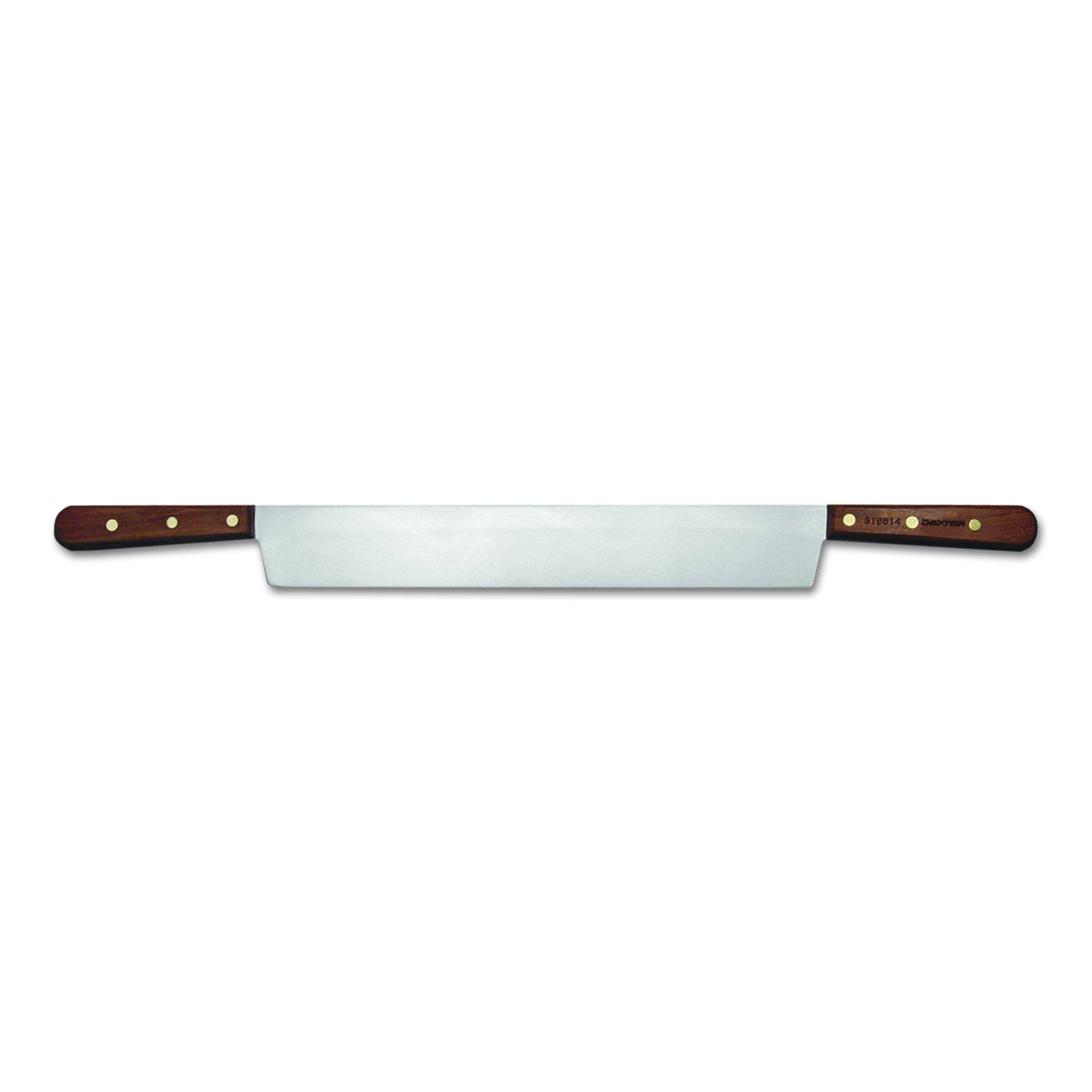 Traditional S18914 14'' Double Wood HandleCheese Knife with Wood Handle
