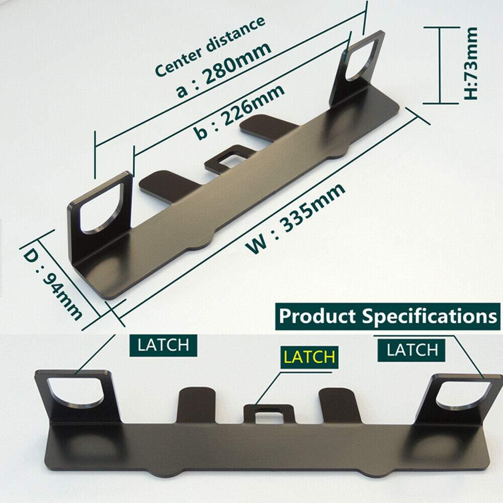 kit di fissaggio universale per seggiolino auto per bambini Maso con connettore per cintura di sicurezza ISOFIX