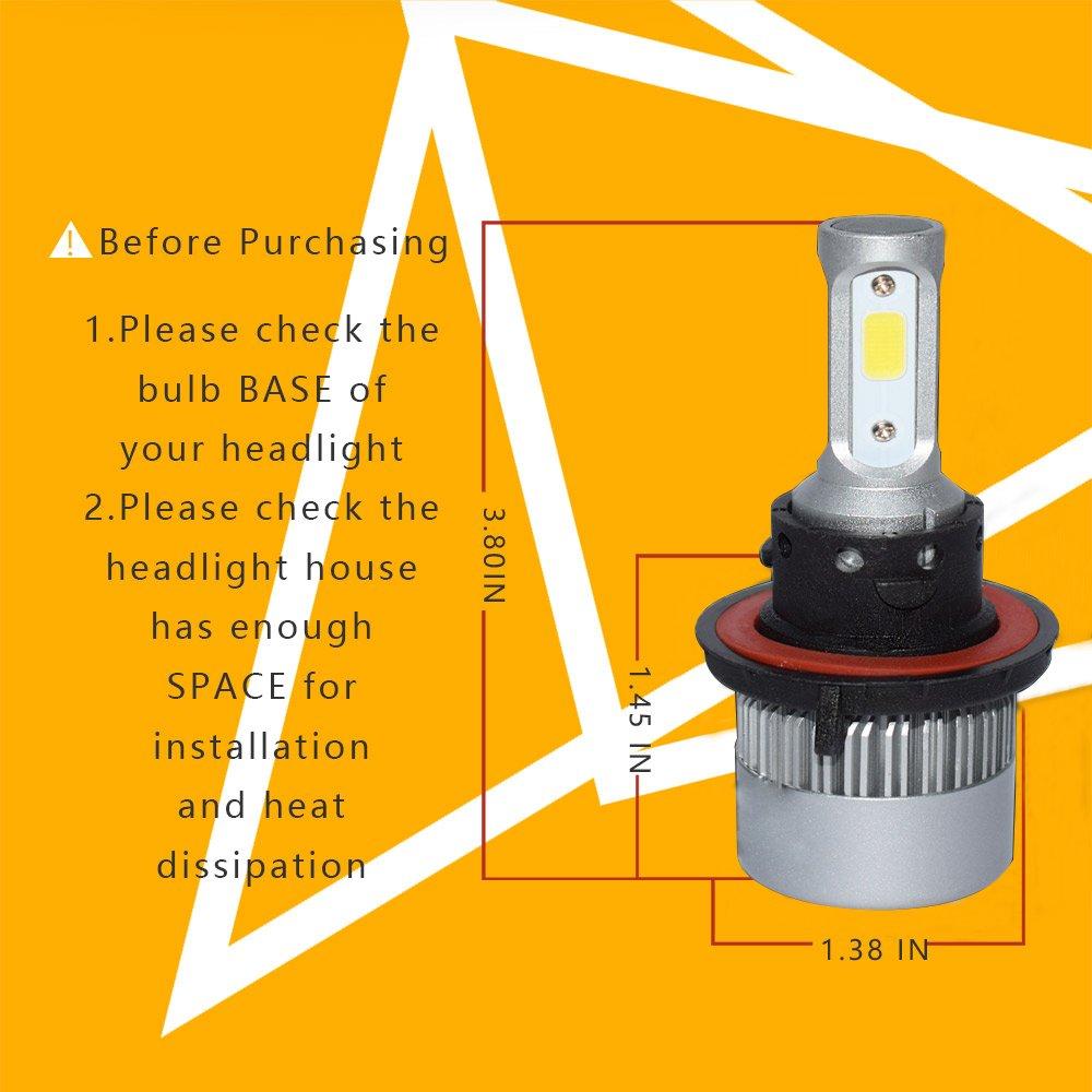 sandonled H13 9008 led Headlight Bulbs High and Low Beam LED Headlight Bulbs 8000LM 6000k Cool White Super Bright led Fog Light All in One Conversion Kits led Light 1 Year Warranty 2 PCS