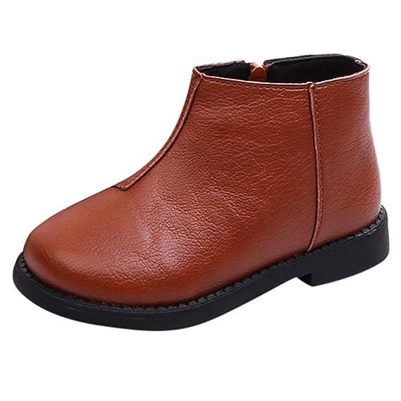 YanHoo Zapatos para niños Botas de Nieve Color sólido más Terciopelo Grueso y cálido para la Nieve Botas Invierno Cálido Niños Niños Niñas Niños Sólido ...