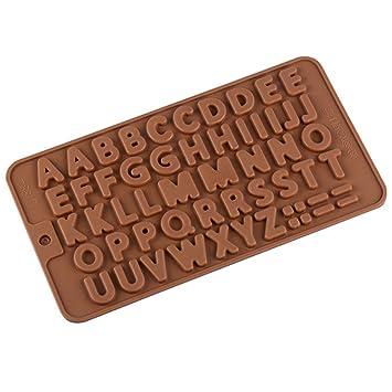 Letras silicona Break-apart Chocolate barra de proteína y energía moldes, silicona de grado LFGB, sin BPA, horno: Amazon.es: Hogar
