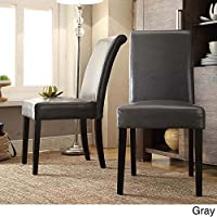 HOME Dorian Faux Leather Upholstered Dining Chair (Set of 2) Gray