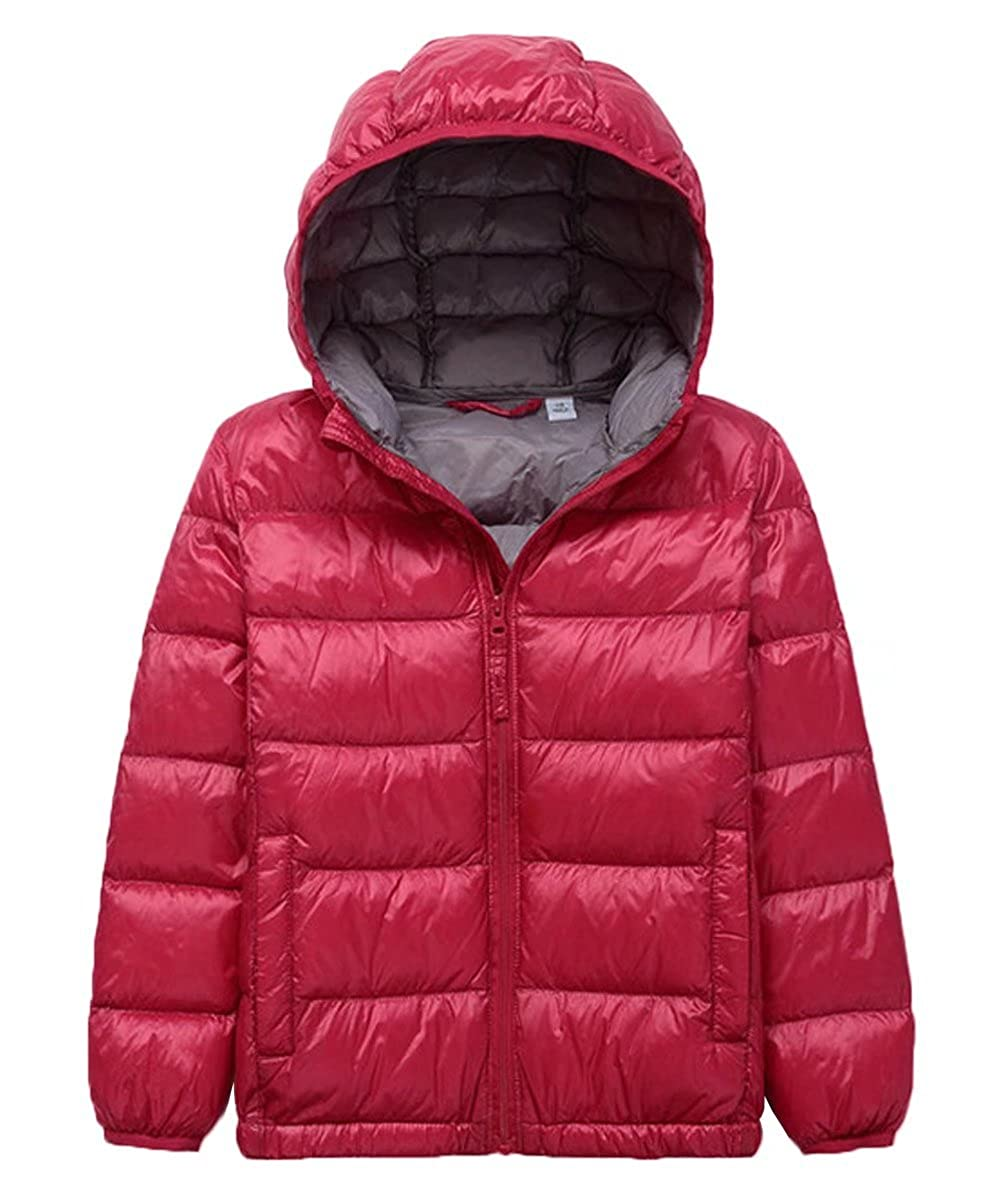 Gxia Girls Skinny Waterproof Winter Coat Hooded Down Jacket