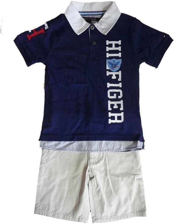 thilfiger Niños Outfit Polo camisa camiseta de + Beige corto ...