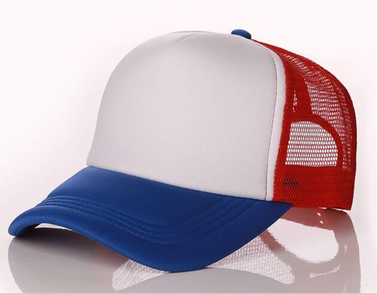 figjtrgh Berretto da Baseball da Donna in Poliestere da Uomo Logo Trucker Hat 48-52cm Blu Bianco Rosso Kids