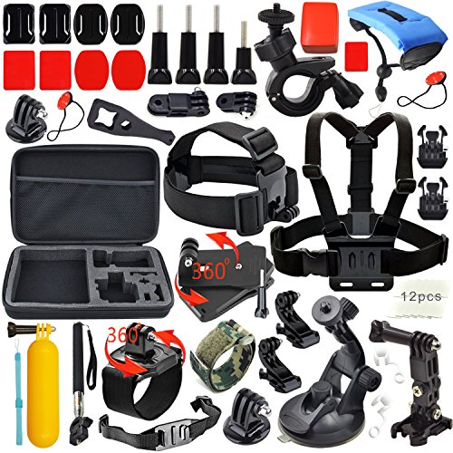 Erligpowht Common Outdoor Sports Kits For Gopro Hero 4 3  3 2 1 Cameras And Sj4000 Sj5000 Cameras In Swimming Camping Diving Outing Any Other Outdoor Sports