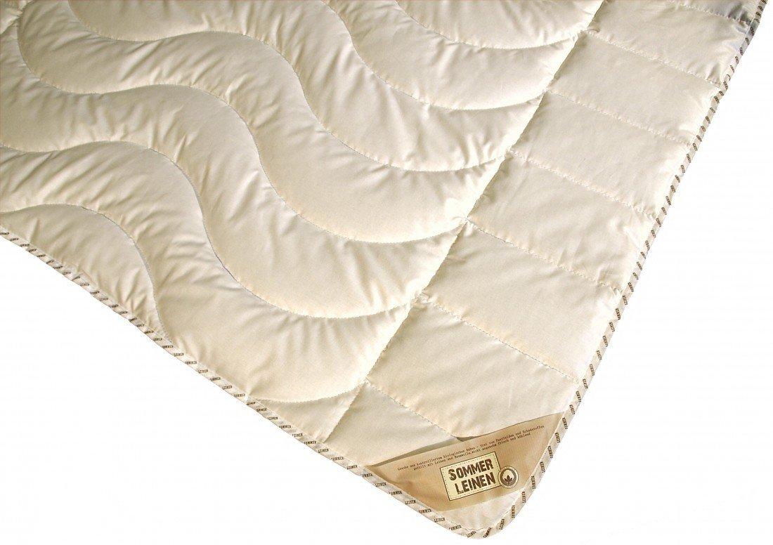 Garanta Bettdecke 220 x 240 950 g - Extra Leichtes Sommer Leinen Steppbett - Übergröße