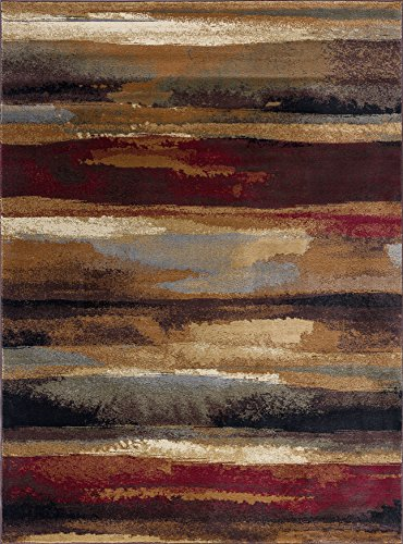 Dakota Contemporary Abstract Multi-Color Rectangle Area Rug, 8' x 10' ()