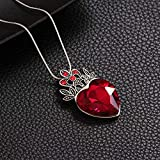 Evie Red Heart Tiara and Necklace Descendants Red