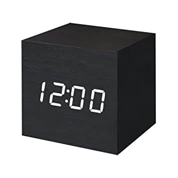 FONCBIEN Despertador Digital LED Madera Mini Reloj gráfico Escritorio Viaje Decoration de casa: Amazon.es: Hogar
