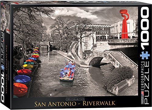 EuroGraphics San Antonio River Walk Puzzle - San Antonio Riverwalk Shops