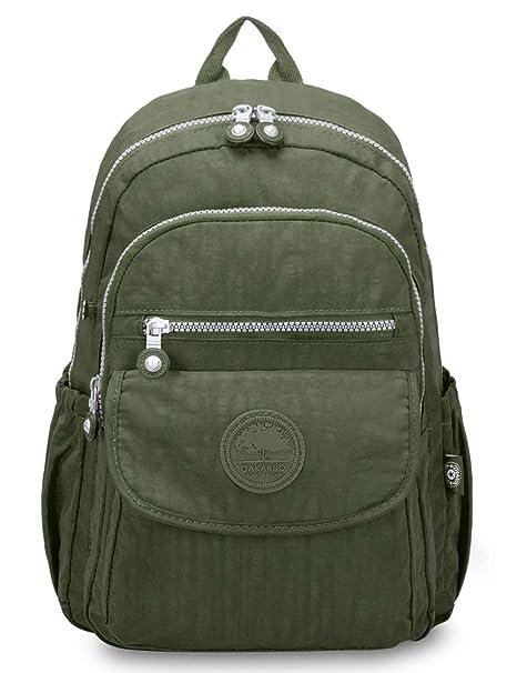 e826de677df2 Oakarbo Backpack Multi-Pocket School Bag Nylon Travel Hiking Daypack