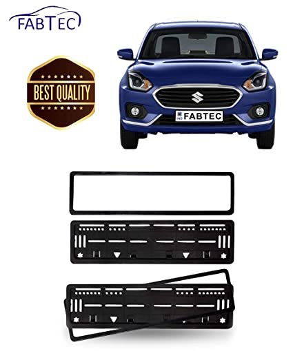 Fabtec Car Number Plate Frame for Maruti Swift Dzire 2018 Number ...