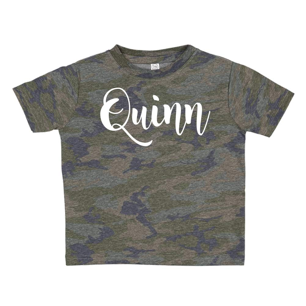 Personalized Name Toddler//Kids Short Sleeve T-Shirt Mashed Clothing Quinn