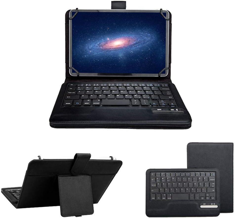 7 – 8 Inch Universal Tablet Teclado caso, eTopxizu 2 en 1 inalámbrico Bluetooth teclado extraíble Windows Android iOS de maletines de viaje de piel funda soporte folio + soporte (negro): Amazon.es: Electrónica