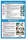 CPR & Choking First Aid Instructions Poster for Infants & Children - Laminated - 12 x 18 in.