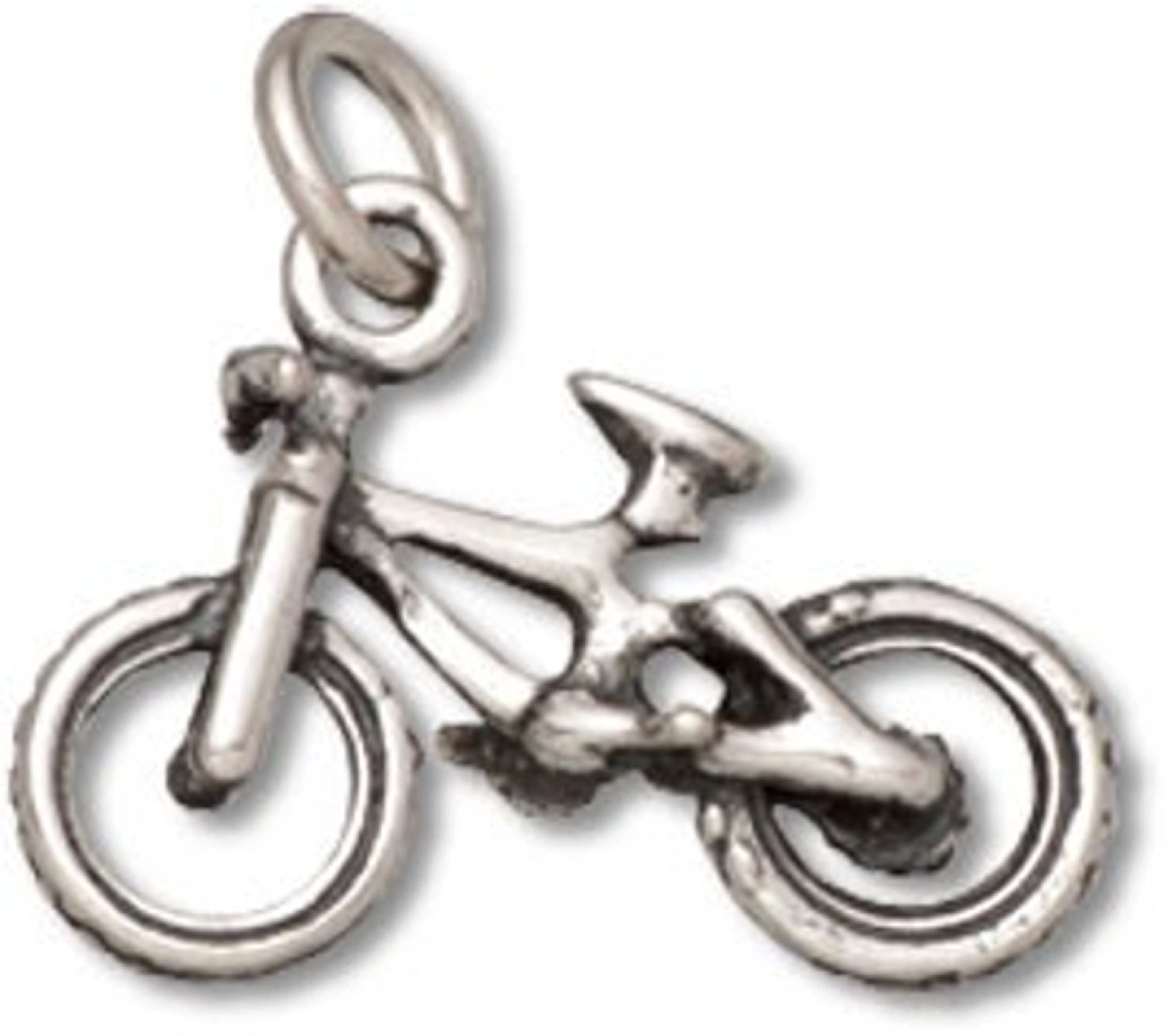 Sterling Silver 3D BMX Bike Or Ten Speed Bicycle Charm