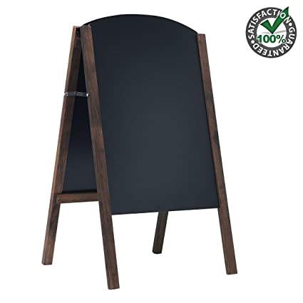 Amazon.com : Wooden Double Sided Chalkboard Sign Tabletop with Stand ...
