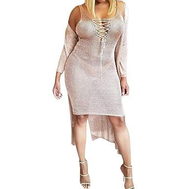 5b051b70a iHPH7 Dress, Women Summer Sleeveless Bandage V Neck Evening Party Beach  Sundress