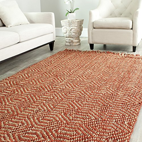 Safavieh Natural Fiber Collection NF445A Diamond Weave Rust Sisal Area Rug (4' x 6') - Rust Rug