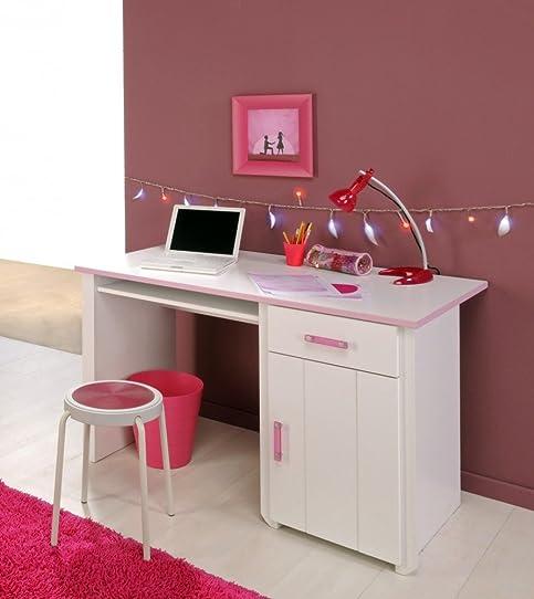 Bureau Blanc Et Rose Pour Chambre Fille Candy: Amazon.Fr: Cuisine