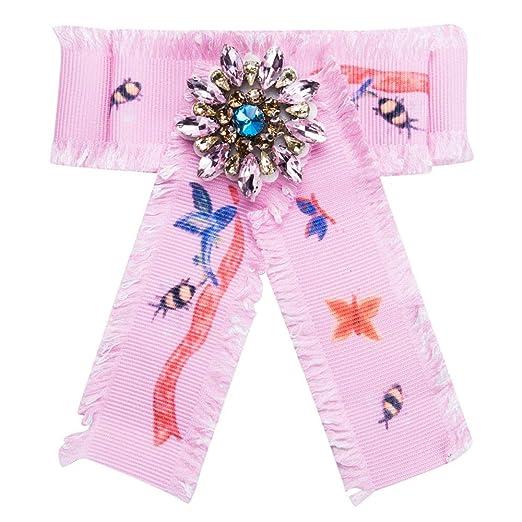 Neckchiefs Corbata de Lazo de Diamantes de imitación para Mujer ...