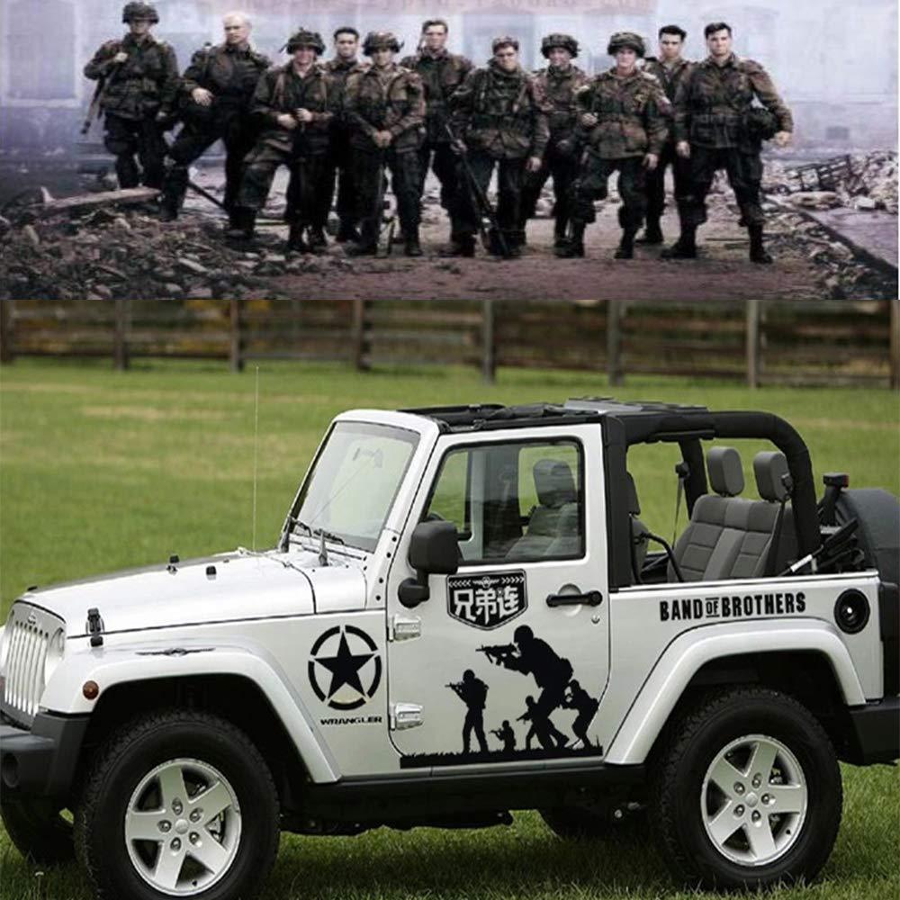 Amazon com fochutech car sticker us army veteran decal universal car decal full set jeep hood decal car window decals side truck vinyl graphics