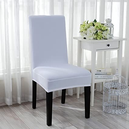 Astounding Amazon Com Boshen Strecth Half Chair Covers Simple Pure Andrewgaddart Wooden Chair Designs For Living Room Andrewgaddartcom