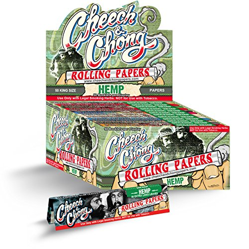 (50) Packs of Authentic Cheech and Chong Hemp KING SIZE Rolling Papers 50 Papers Per Pack FREE ECONOMY - Economy Shipping Prices