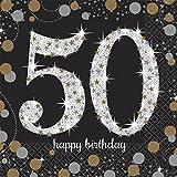 Sparkling Celebration 50th Birthday Beverage Paper Napkins