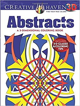 Amazon Creative Haven 3 D Abstracts Coloring Book Adult 0800759790715 Brian Johnson Books