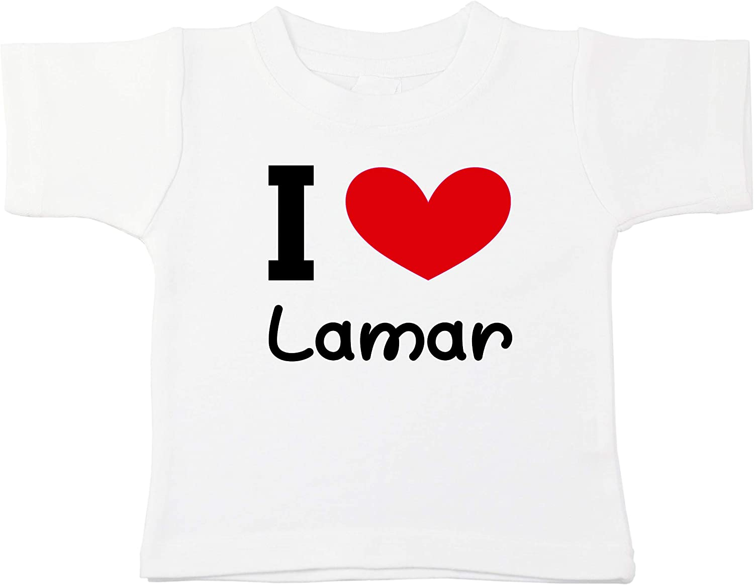 Kinacle I Love Lamar Personalized Baby//Toddler T-Shirt