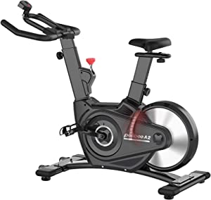 pooboo Exercise Bike Indoor Cycling Bike Belt Driven Magnetic Resistance Stationary Bike Rear Flywheel Indoor Bicycle with Monitor and Ipad Holder