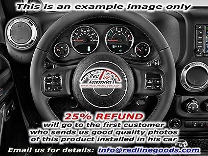 RedlineGoods Jeep Wrangler 2011-15 cubierta del volante de
