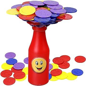 deAO Botella de Equilibrio Juego de Apilar Fichas de Colores Desafío Juego de Mesa Infantil para la Familia: Amazon.es: Electrónica