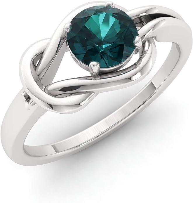 Diamond ring ~ Natural Diamond ring ~ 9K Gold Ring ~ infinity squareRing ~ Link Ring ~10 Diamonds Classic Jewelry ~ April Birthstone