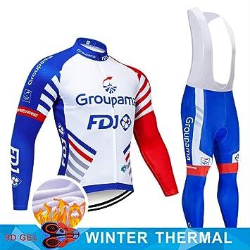 YDQXTZ 2019 Invierno Ciclismo Jersey 9d Pantalones Set MTB ...