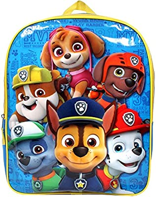"""Paw Patrol Puppy Friends 15\"""" Backpack Tote"""