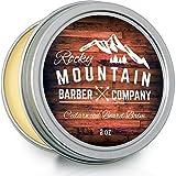 Beard Balm - Rocky Mountain Barber - 100% Natural - Premium Wax Blend with Cedarwood Scent, Nutrient Rich Bees Wax, Jojoba, Tea Tree, Coconut Oil by Rocky Mountain Barber Company