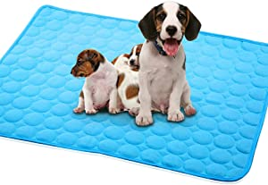 Dog Cooling Mat Pet Cooling Pads Dog Self Cooling Mat Waterproof Bottom Blanket Pad Bed Kennel Mat for Dogs Cats Animal Floors Car Seats Summer Ice Sleep Cushion Comfortable