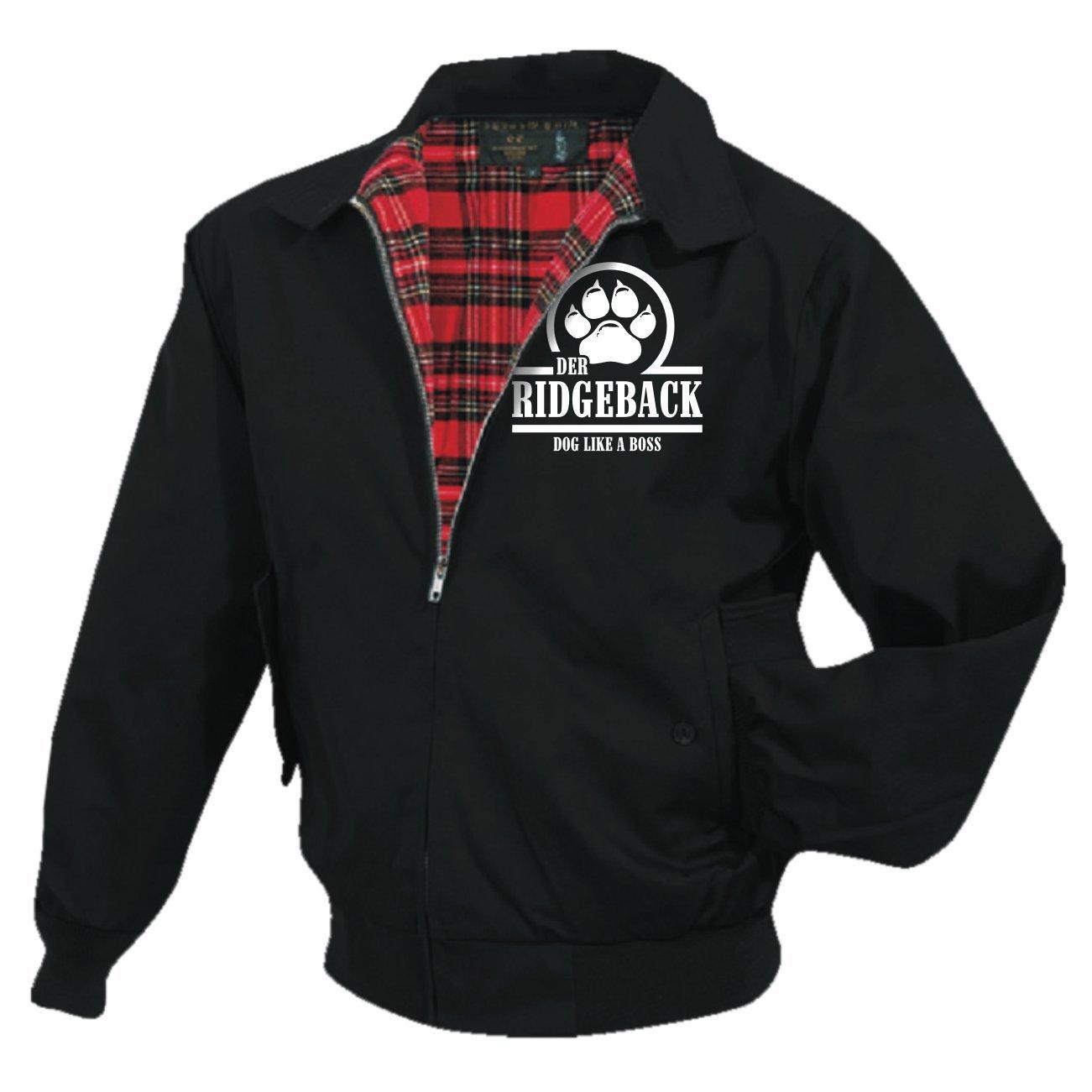 Männer und Herren Harrington Jacke Rhodesian Ridgeback (mit Rückendruck) 52587