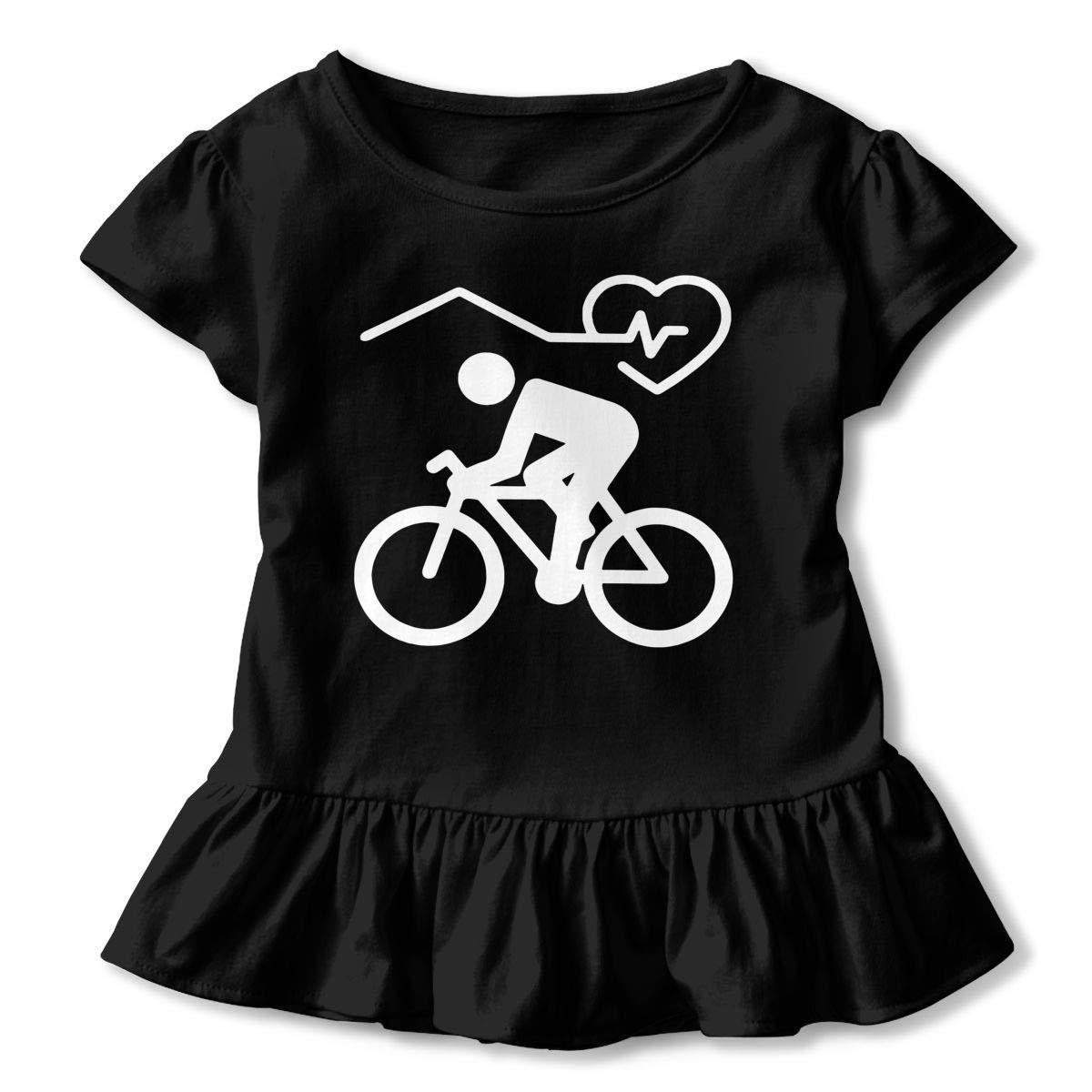 SHIRT1-KIDS Cycling Toddler//Infant Girls Short Sleeve Ruffles Shirt Tee for 2-6 Toddlers