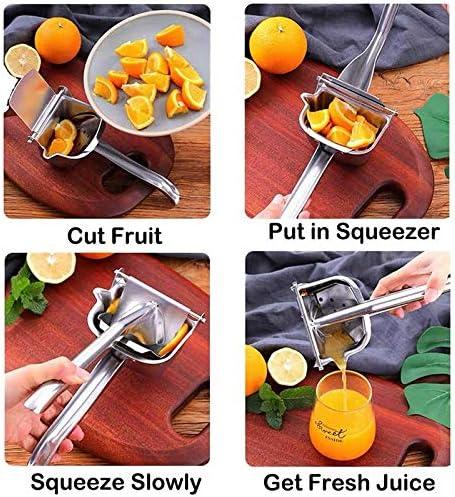 Exprimidor de limón de acero Huante Exprimidor de cítricos Exprimidor de mano de prensado manual resistente