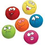 FTXJ 6PCS Puppy Dog Toys Chewing Squeaky Toy for Pet Dog with Sound Squeaker Squeaky Ball With Face Fetch Toy