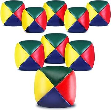 SIMUER Bolas de Malabarismo, 9 Pack Mini Bolas para Malabares ...