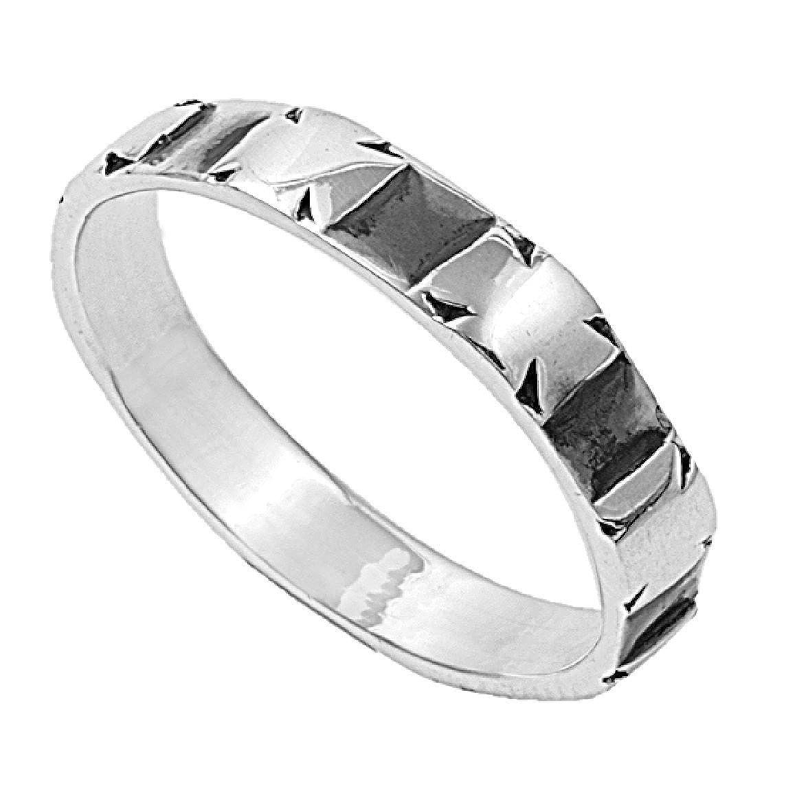 Princess Kylie 925 Sterling Silver Shiny Celtic Cross Ring