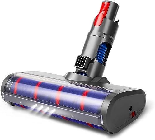Aieve Cabezal Soft Roller Cleaner para Aspiradora Dyson, Accesorios de Fijación Del Cabezal Del Cepillo De Repuesto Con Faro Led para Dyson V11 V10 V8 V7 Aspiradora Con Brazo Inalámbrico: Amazon.es: Hogar